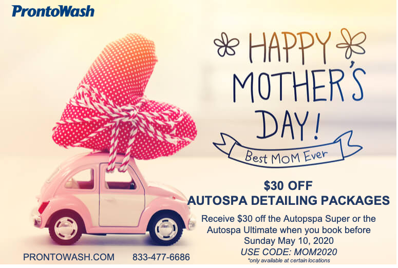 "Nothing says ""I Love You Mom"" Like a Clean & Sanitized Car!"